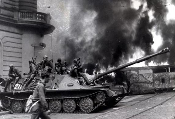 The Prague Spring. Warsaw Pact countries invades Czechoslovakia