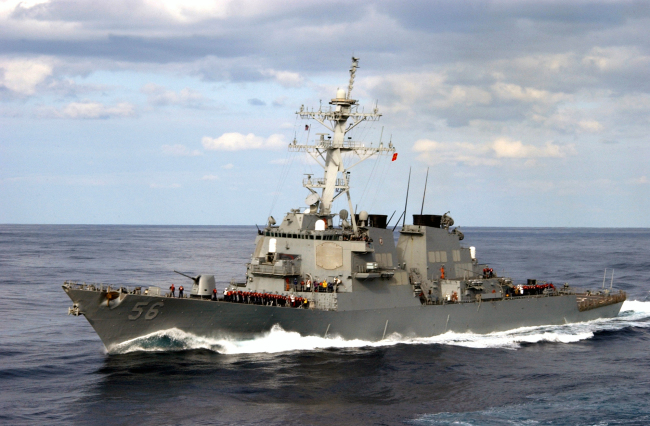 US Navy destroyer collides with Oil Tanker off the coast of Singapore